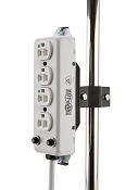 Pole Mounted Hospital Grade Power Strip 4-Way or 6-Way